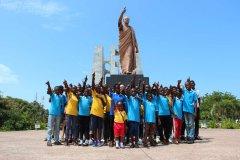 Im Kwame Nkrumah Museum lernten unsere Kidz so einiges über den ersten Präsidenten Ghanas.
